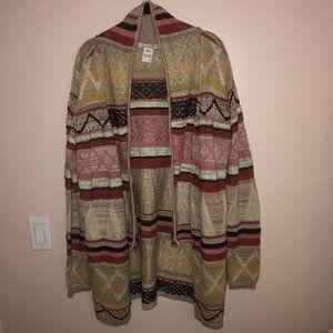 American Rag Pattern Cardigan - Size L